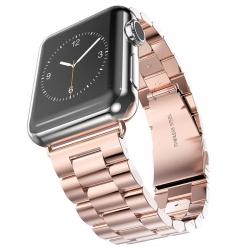 Bracelet Apple Watch Acier Inox 42mm Plaqué Or Rose
