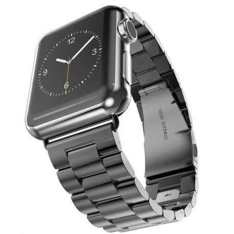 Bracelet Apple Watch Acier Inox 42mm Noir