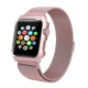 Apple Watch Mesh Stainless Steel Band 42mm with Case and Screen Protector Rose Gold Plated