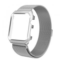 Milanaise Apple Watch Acier Inox 38mm avec Boitier Protection