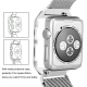 Apple Watch Mesh Stainless Steel Band 38mm with Case and Screen Protector