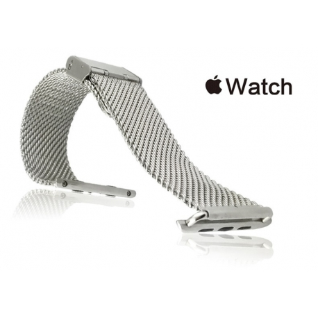Milanesa Mesh Apple Watch 42mm Acero Inoxidable Gris