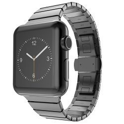 Bracelet Apple Watch Acier Inox 42mm iLuxe Noir