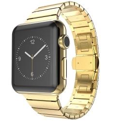 Bracelet Apple Watch Acier Inox 42mm iLuxe Doré