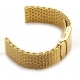 Shark Mesh Stainlees steel 24mm gold plated