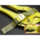 Milanesa Shark Mesh Oro Acero Inoxidable 20mm Vip