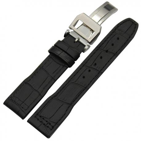 Bracelet montre Avirex 100% cuir Véritable 20mm noir
