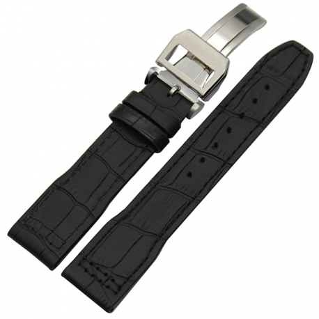Leather Strap 100% Genuine Avirex 20mm Black