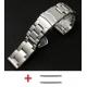 Bracelet Milanaise maille Shark Mesh Acier Inox 22mm