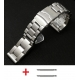 Bracelet Milanaise maille Shark Mesh Acier Inox 24mm