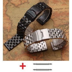Stainless Steel Bracelet Band Wadoo 22mm Black