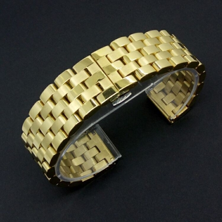 Stainless Steel Bracelet Band Smart 22mmGold