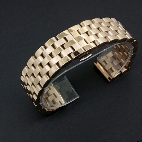 Brazalete Armis Acero Inoxidable Oro Rosa Smart 22mm