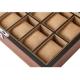 High Quailty Watch Box 12 Slots Zebra Wood