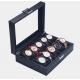 Boite pour 12 Montres Fibres Carbones Haute Qualité Zweiler