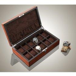 High Quality Watch Box 12 Slots Zebra Wood Habana