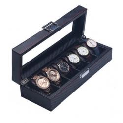High Quality Watch Box 6 Slots Carbon Fiber Zweiler