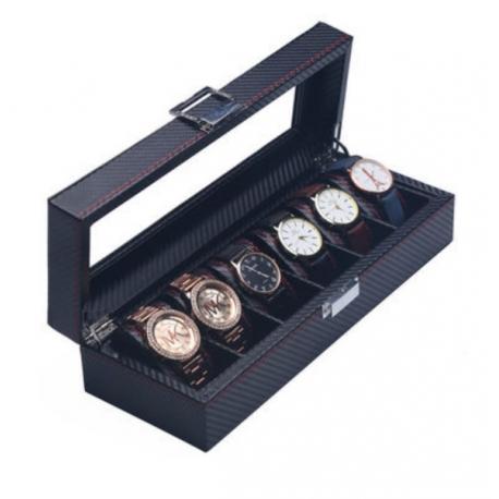 Caja 6 Relojes Fibra Carbono Zweiler