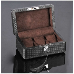 High Quailty Watch Box 3 Slots Carbon Fiber Zweiler Habana