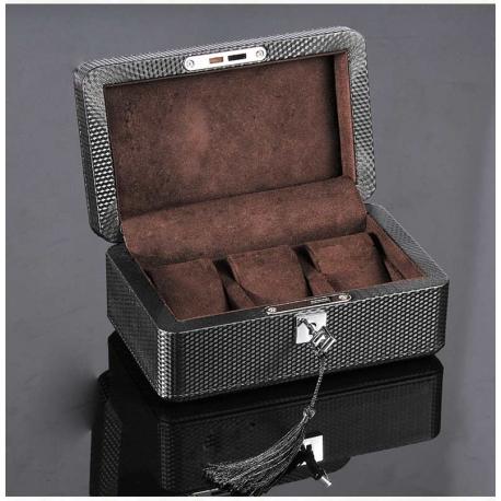 Caja 3 Relojes Fibra Carbono Zweiler Habana