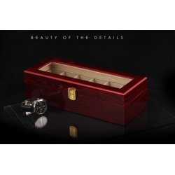 High Quality Watch Box 6 Slots Piano Wood Zweiler