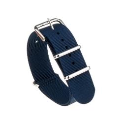 Bracelet montre Nylon Nek Nato Bleue Foncé
