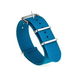 Bracelet montre Nylon Nek Nato 18mm Bleue