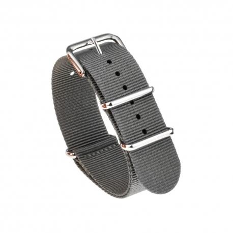 Bracelet montre Nylon Nek Nato 18mm Gris