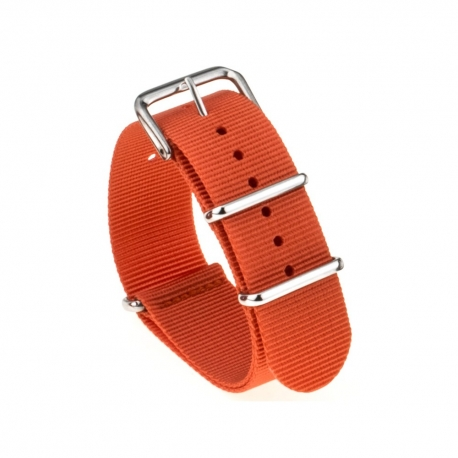 Bracelet montre Nylon Nek Nato 18mm Orange