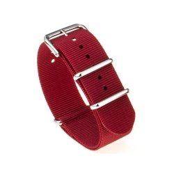 Bracelet montre Nylon Nek Nato 18mm Rouge