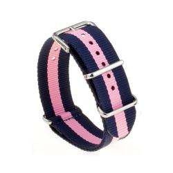 Bracelet montre Nylon Nek Nato Bleue Rose