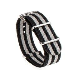 Bracelet montre Nylon Nek Nato Noir Gris