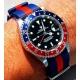 Correa Reloj Nek NATO Negro Rojo