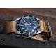 Bracelet montre Nylon Nek Nato Bleue Blanc