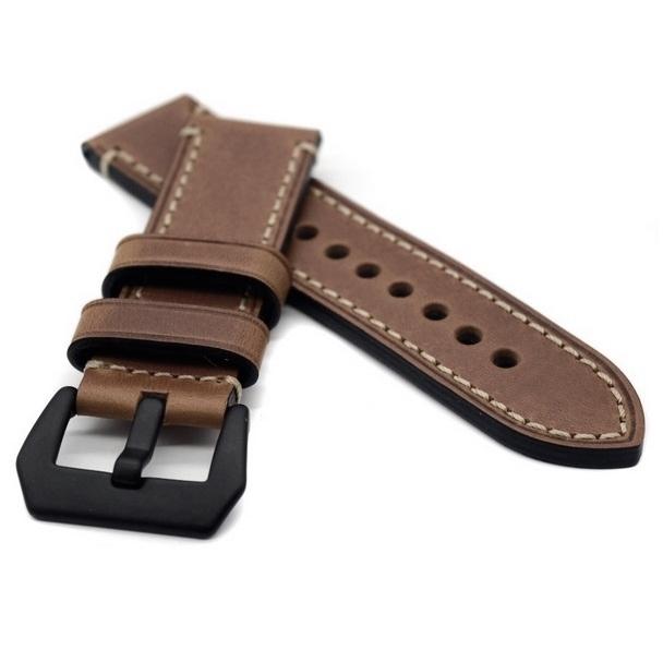 Correa Cuero 100% Genuino marron Vintage Swen 22mm 24mm 26mm.