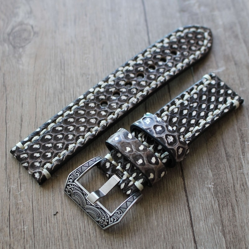 Leather Strap 100% Genuine Python 20mm 22mm 24mm 26mm.