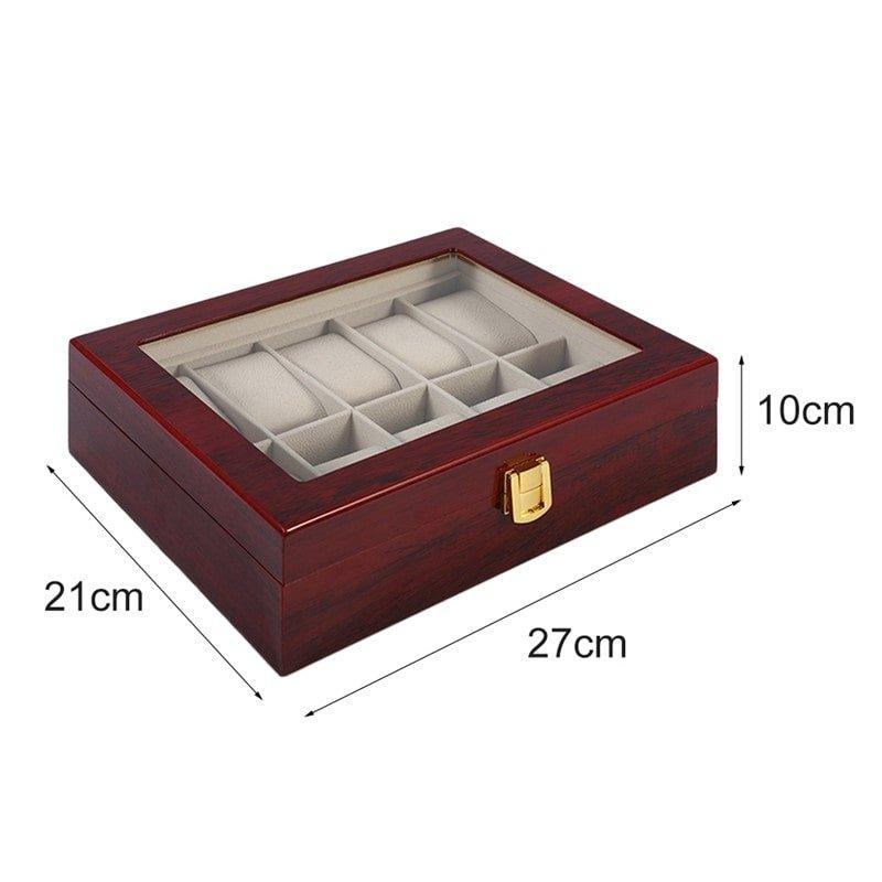 Coffret pour 10 Montres Bois Piano Haute Qualité Zweiler.
