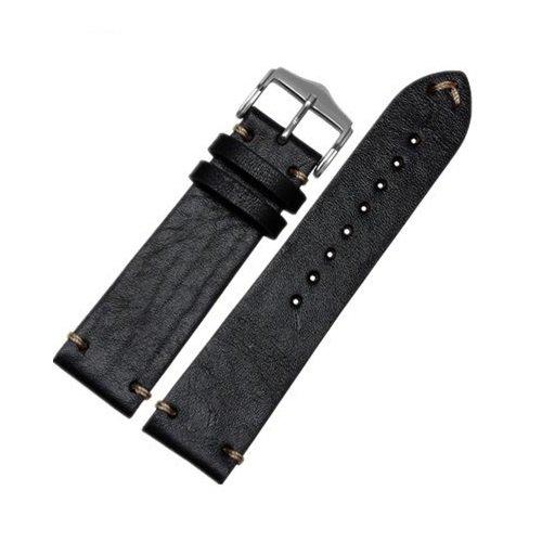 Bracelet montre 100% cuir Véritable Vachette 20mm 22mm 24mm.