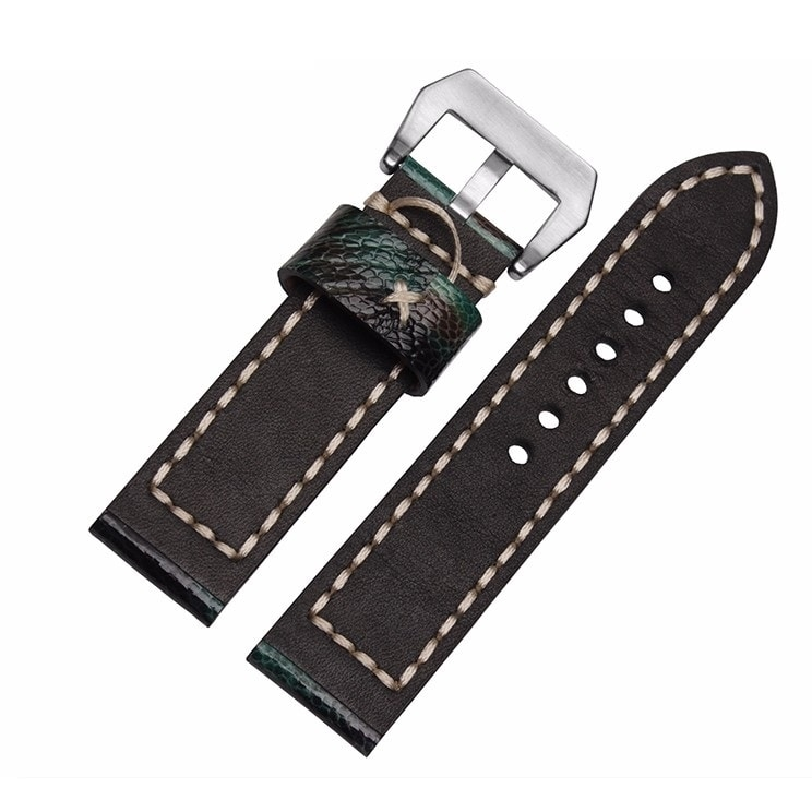 Leather Strap 100% Genuine Ostrich 20mm 22mm 24mm 26mm.