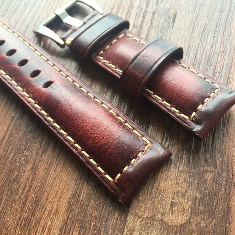 Leather Strap 100% Genuine Tan 20mm 22mm 24mm 26mm Light Brown.