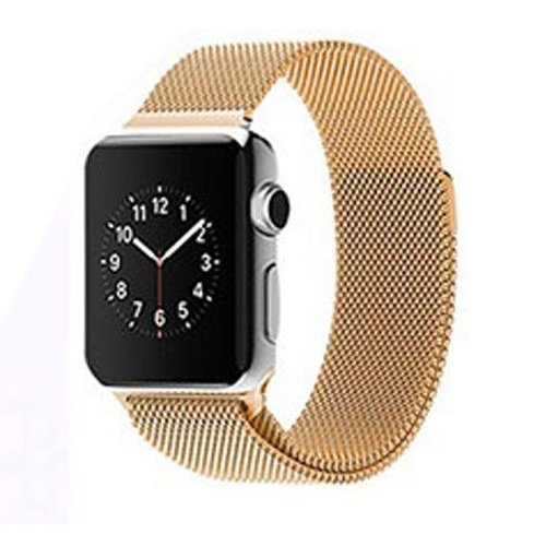 Bracelet Acier Inox Apple Watch 38mm Loop doré