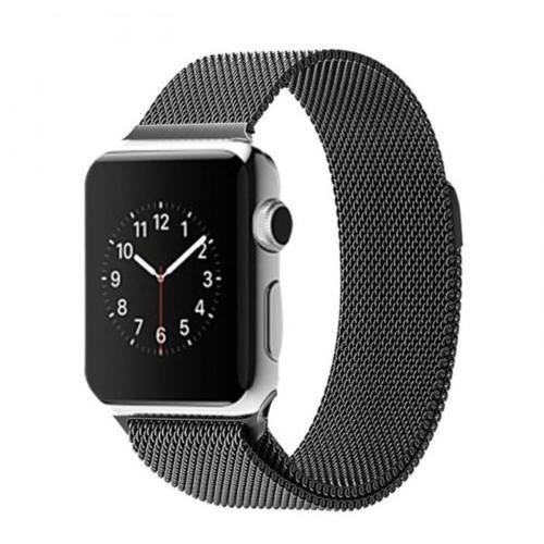 Bracelet Acier Inox Apple Watch 42mm Loop noir