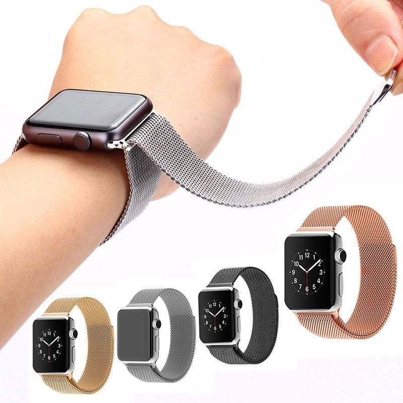 Bracelet Acier Inox Apple Watch 38mm Loop.