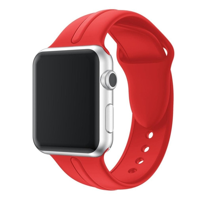 Bracelet Apple Watch Silicone Osmose 38mm. rouge.