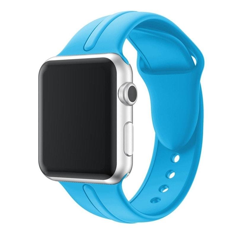 Bracelet Apple Watch Silicone Osmose 38mm bleu