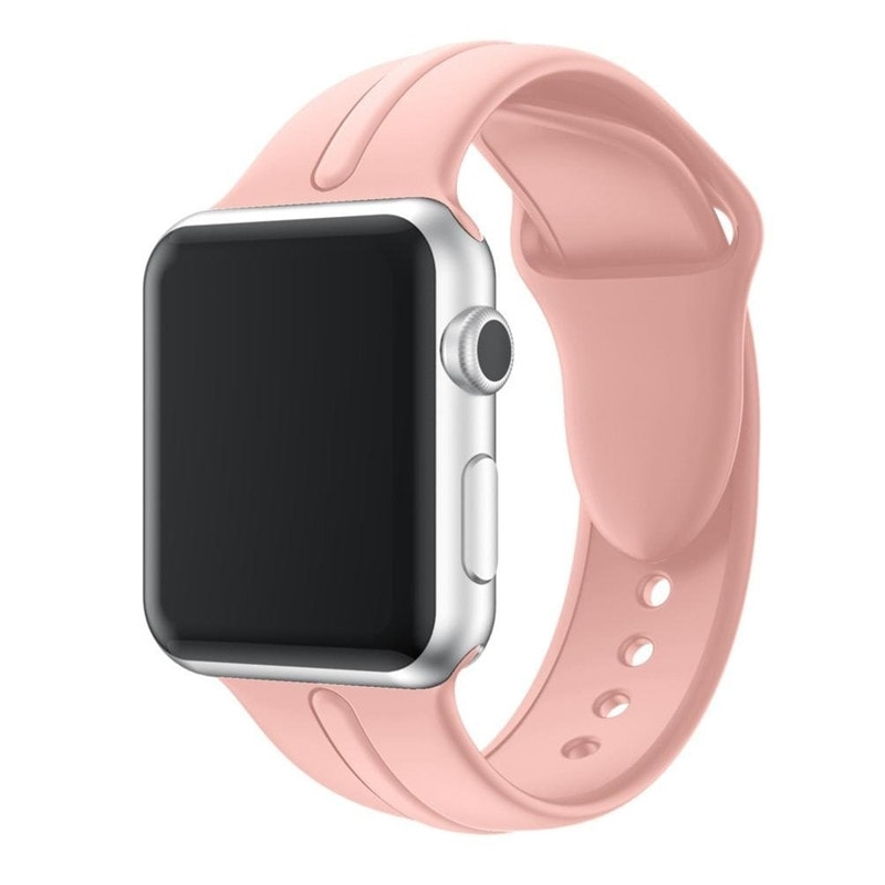 Bracelet Apple Watch Silicone Osmose 38mm rose