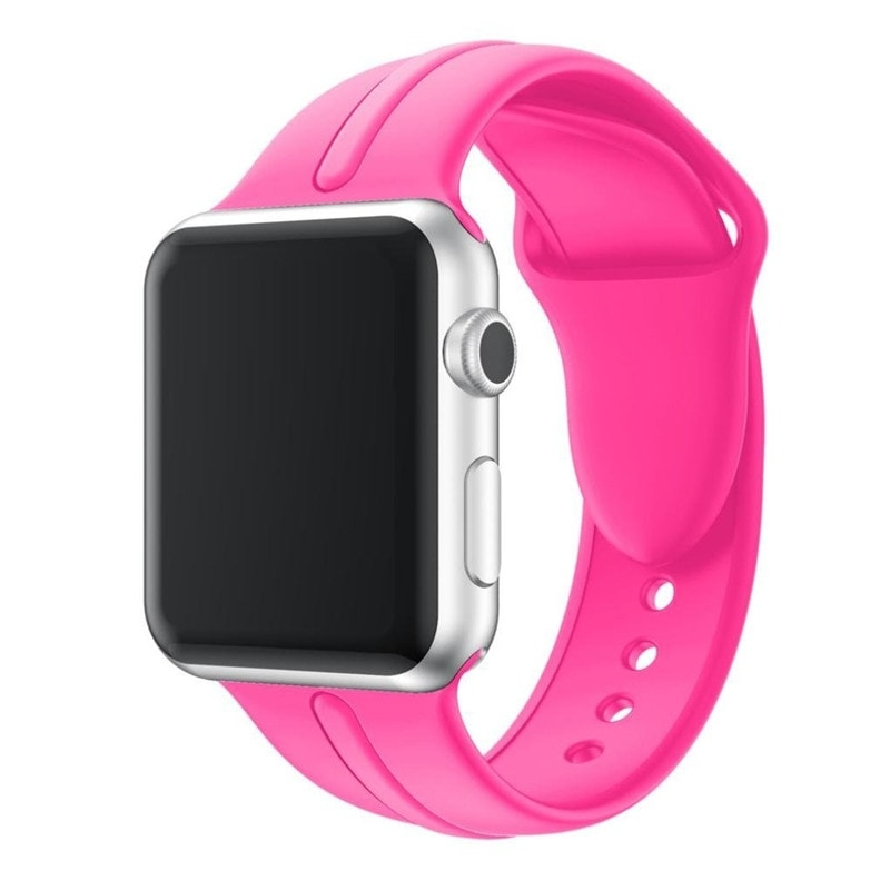Osmose Silicone Strap for Apple Watch 42mm hot pink