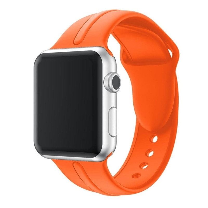 Correa Silicona Apple Watch Osmose 38mm naranja