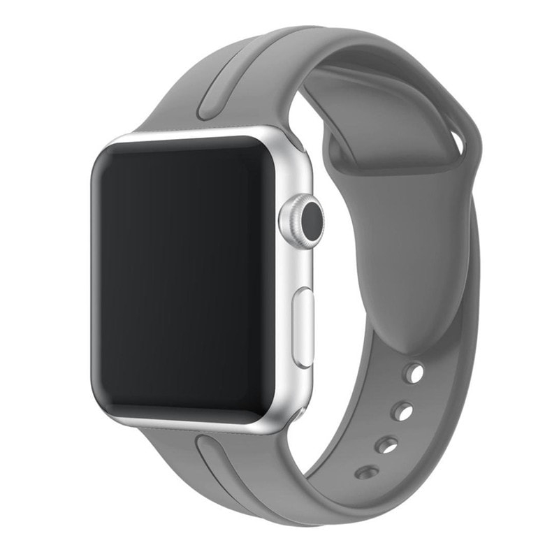 Bracelet Apple Watch Silicone Osmose 38mm gris
