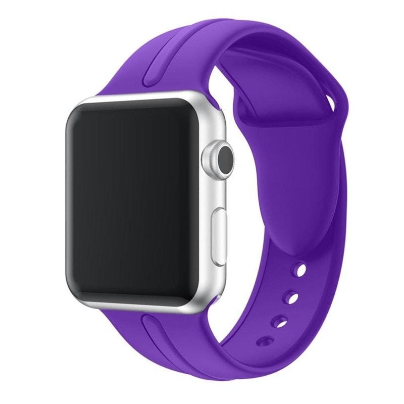 Bracelet Apple Watch Silicone Osmose 38mm violette mauve